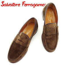 salvatore ferragamo salvatore ferragamo loafer shoes shoes men penny loafer brown suede x leather loafer b951s