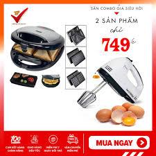 Combo Máy nướng bánh bánh Tiross TS-513 + Máy đánh trứng cầm tay 7 tốc độ  DK-133 BH 12Tháng - Máy làm bánh