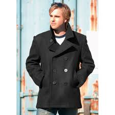 vintage style us navy pea coat mens jacket