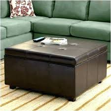 distressed leather ottoman rustic storage wood hassock round distressed leather ottoman