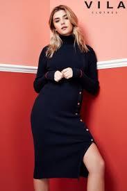 fila long sleeve dress. buy vila long sleeve knit dress from the next uk online shop fila