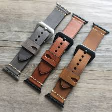 urvoi band for apple watch series 4 3 2 1 strap for iwatch belt for panerai style handmade retro leather band 38 42mm