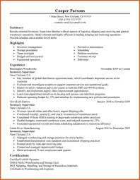 Logistics Supervisor Resume Samples Free Resume Example And