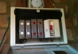 electricals here s an old school fuse box or consumer unit each fuse has two coloured dots to indicate different amps a problem appliance will break your fuse wire