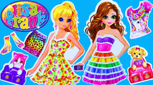 barbie coloring make up games save lisa frank toy review with paper dolls dress up stickers