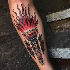 татуировка факел значение для мужчин и женщин история фото смысл