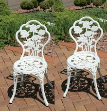 patio chairs table duck egg blue for