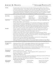 Resume Examples Military To Civilian Free Resume Example And