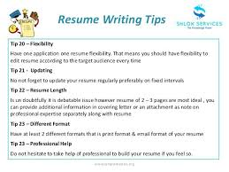 10 Tips For Writing A Resume Professional Resume Templates