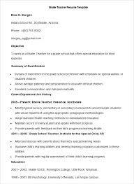 Sample Teacher Resume Indian Schools Teacher Resume Templates Free Sample  Example Format In Teachers Resume Resume. professional ...