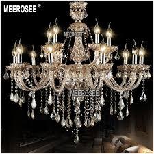 15 lights big chandelier vintage elegant crystal chandelier beads hotel lighting pendelleuchte for project md8528