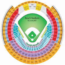 Busch Stadium St Louis Mo Landrys Tickets Seating Chart