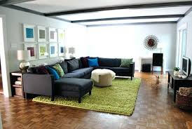 how to place a rug with sectional sofa baci living room