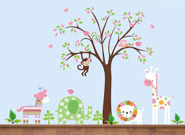 fetching home interior wall decor with jungle tree wall decals fair picture of kid bedroom