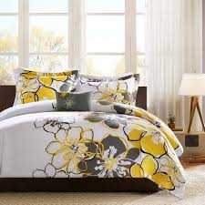Lemon And Grey Bedroom Yellow And Gray Bedding That Will Make Your Bedroom Pop