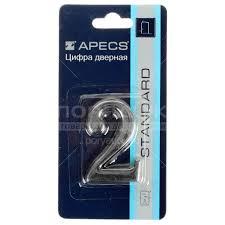 <b>Номер на дверь Apecs</b> «2» DN-01-2-Z-CR в Воронеже: отзывы ...