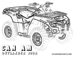 four wheeler coloring pages. Delighful Wheeler Four Wheeler Coloring Pages Of CanAm Outlander 800r Atcoloringkidsboyscom And Four Wheeler Coloring Pages W