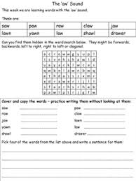 This printable will give him practice with words that start with. Aw Phonics Ppt Phonics Phonics Worksheets Spelling Homework