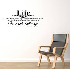 Wall Decal Quotes Best BREATH AWAY Wall Quote Wall Decal Vinyl Art Sticker Wall Room
