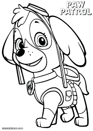 Free Color Pages To Print Chase Paw Patrol Free Coloring Pages Free