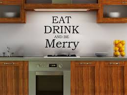 eat drink and be merry wall art quote sticker decal modern on eat drink and be merry metal wall art with eat drink and be merry wall decal elitflat