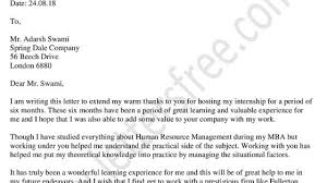 You Letter How To Write A Thank You Letter After Internship With Sample