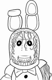 Fnaf Coloring Pages Bonnie Encourage Five Nights At Freddy S New How