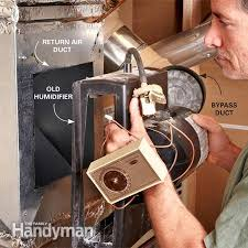 furnace humidifier not working replace it the family handyman photo 1 disconnect and remove the furnace humidifier