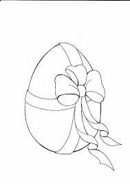 Uovo Di Pasqua Con Fiocco Disegno Per Bambini Disegni Da Colorare