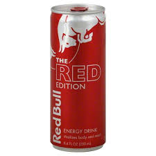 red bull energy drink the red edition