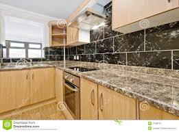 Kitchen Granite Worktop Kitchen Counter With Granite Worktop Royalty Free Stock