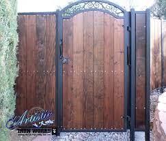 wrought iron and wood gate fence ideas pinterest iron gates with wood c29