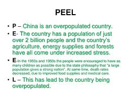 peel bull p is an overpopulated country bull e the country has using the peel writing technique in geography lessons