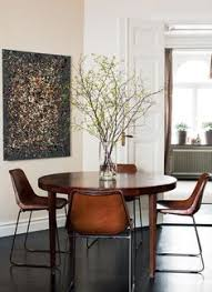 saddle brown leather dining chairs beautiful yet simple interior design home decor