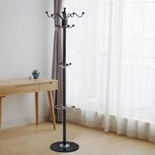 Iron Coat Rack Stand Cool Coat Rack Hat Jacket Stand Tree Holder Hanger W Marble Base32 Hooks