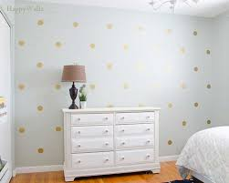 gold polka dots spots wall sticker for