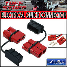 wiring winch to trailer plug wiring image wiring tuff stuff electric winch quick connector plug 2 gauge wire on wiring winch to trailer plug