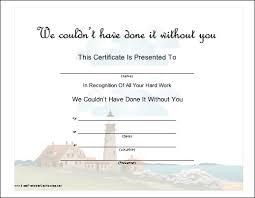 Certificate Of Appreciation Volunteer Work This Certificate Recognizes Hard Work By A Volunteer