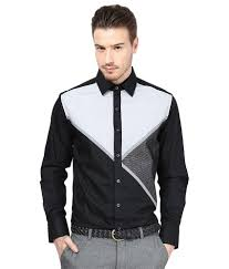 Designer Party Wear Shirts India Dazzio Black Partywear Shirt Buy Dazzio Black Partywear