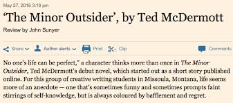 the minor outsider ted mcdermott  a brief essay by the author from the one blog