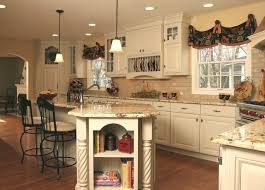 French Country Kitchen with Angled Penninsula traditional-kitchen