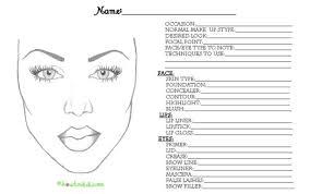 Blank Makeup Face Chart Pdf Makeupview Co