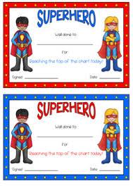 Superhero Behaviour Behavior Reward Peg Chart Clip Chart