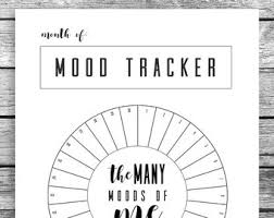 10 Monthly Mood Tracker Circle Bullet Journal A5 Journal