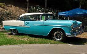 1955 Chevrolet Bel Air Sport Coupe - white over turquoise - fvr ...