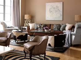 Living Room Paint Colors With Brown Furniture Awesome Living Room Design With Twin Framed Picture Also Beige
