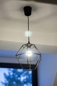 diy geometric pendant light fixture