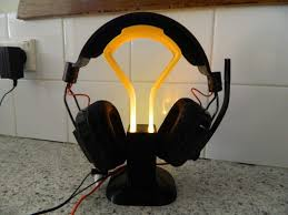 image of best headphone stand light up headset stand