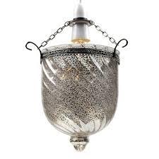 modern silver mercury glass ceiling light easyfit pendant lantern bedroom lounge