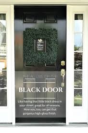 black front door by snazzylittlethings com